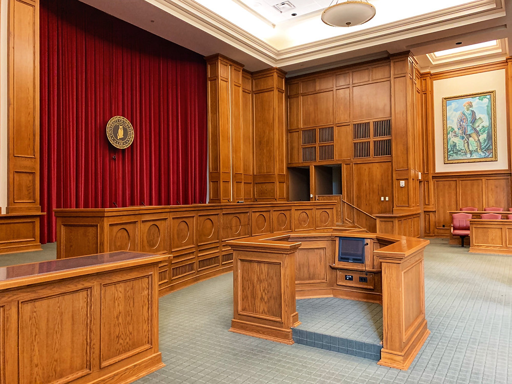 A empty courtroom