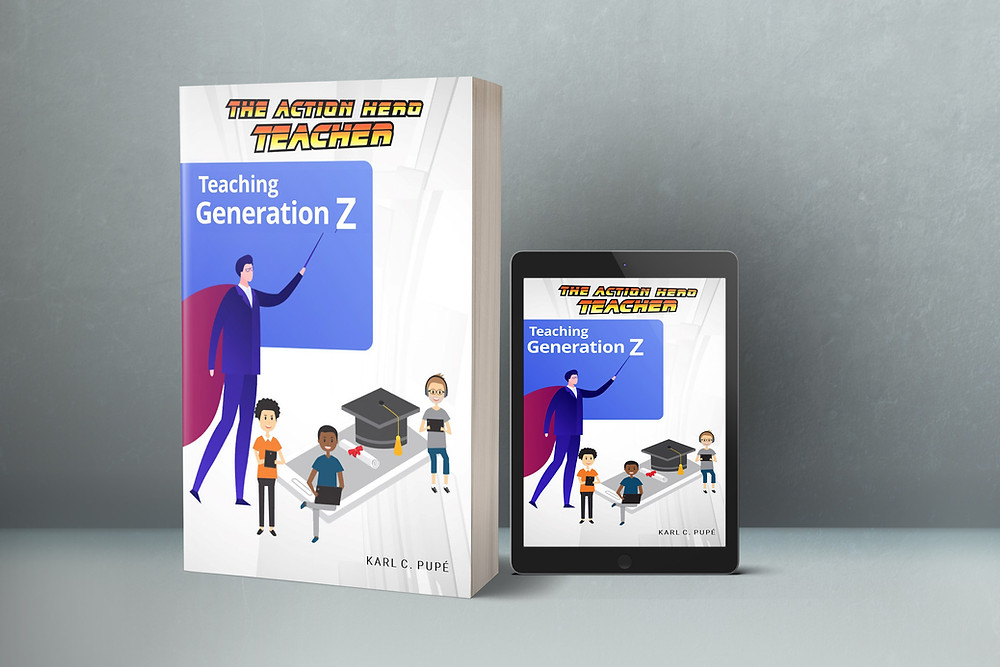 Mock up of the 'Teaching Generation Z' eBook