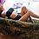 Thumbnail: KENDALL High Waisted Black Bandeau Bikini
