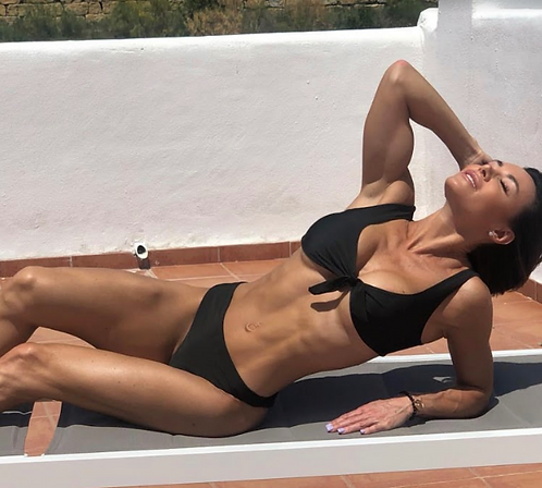 BELLA Black Tie-up bikini