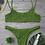 Thumbnail: ELEONORA Khaki Green Crinkle Bikini