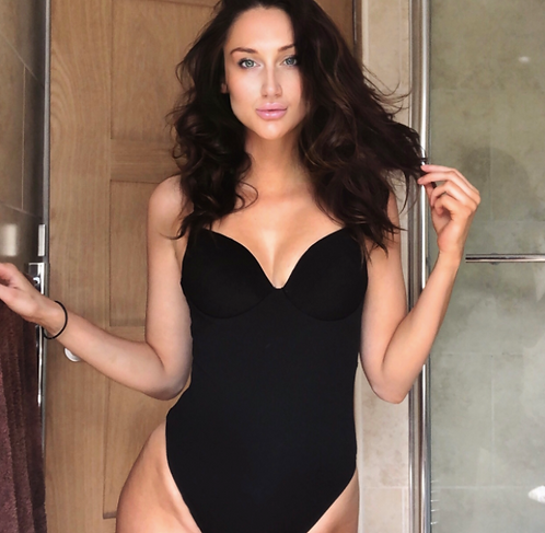 DOLLY | Wired Structured Black One Piece