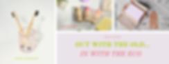 Pink and Slate Grey Photo Beauty Influen