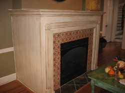 French Glazed Fireplace