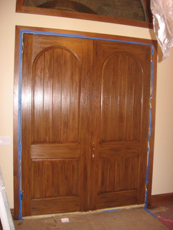 Fauxed Wood Grained Doors