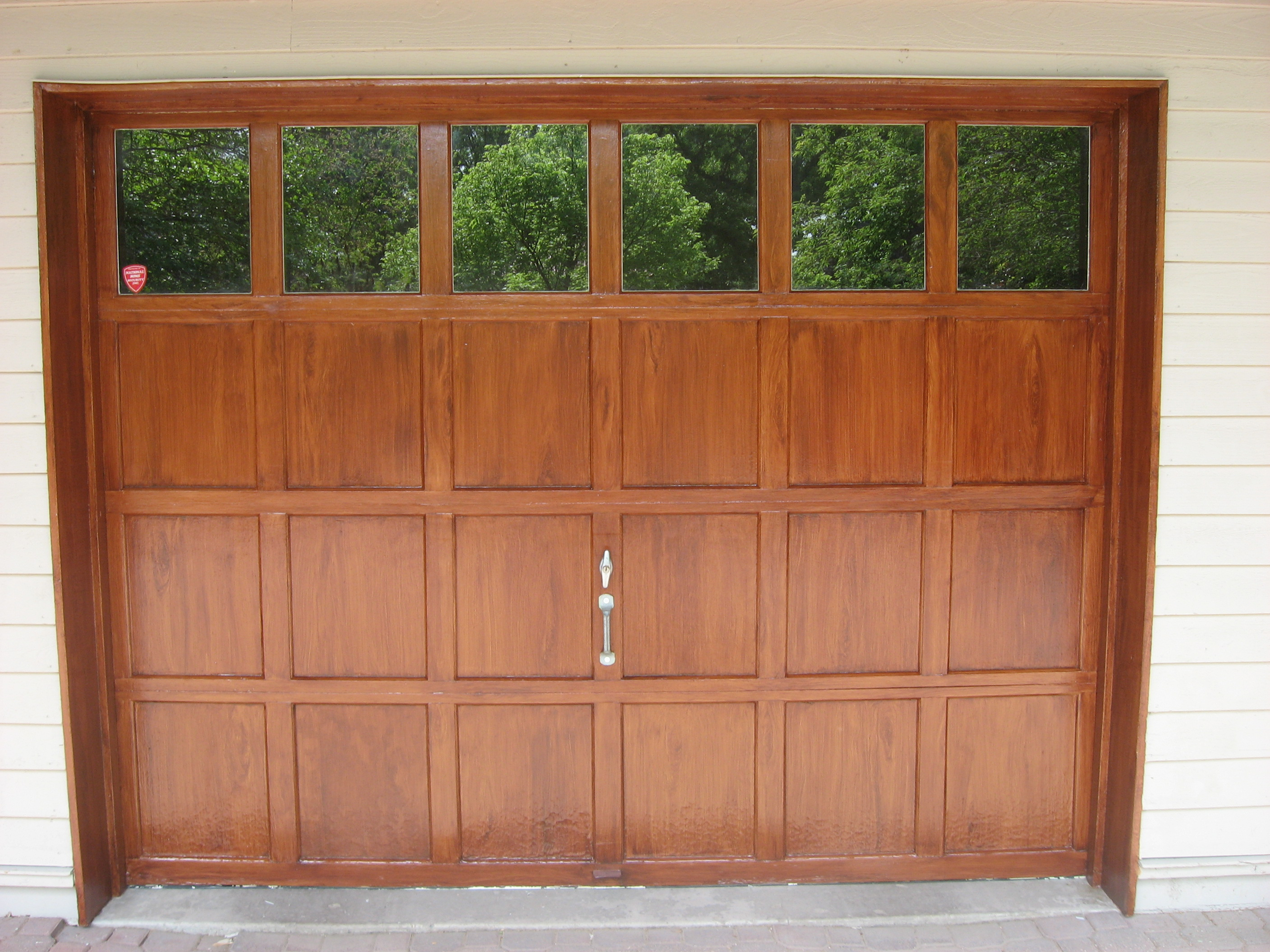Wood Grained Garage Door