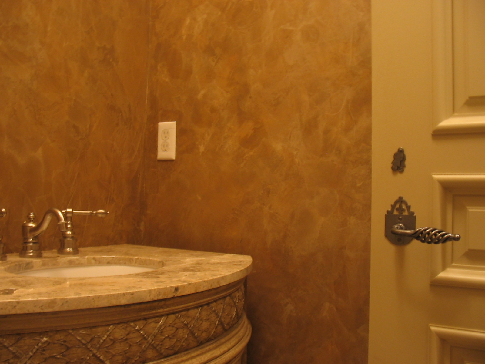Shimmer Stone Powder Room