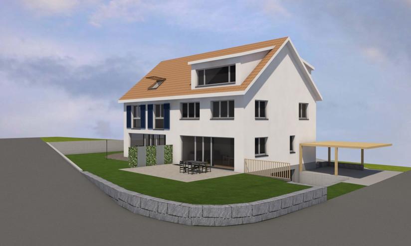 Planung Doppeleinfamilienhaus