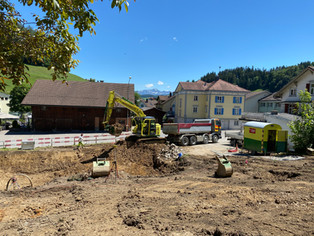 Baustart Neubau Krone Lodge Mosnang