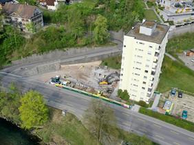 Abbruch und Wiederaufbau Tiefgarage, Wattwil