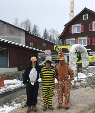 Fasnacht bei der Firma Oberhänsli Bau AG