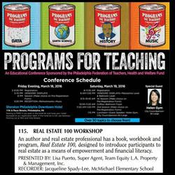 Programs for Teaching