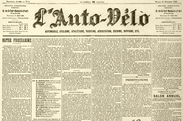 Le Vélo contre L'Auto, ou l'histoire d'un entrepreneur