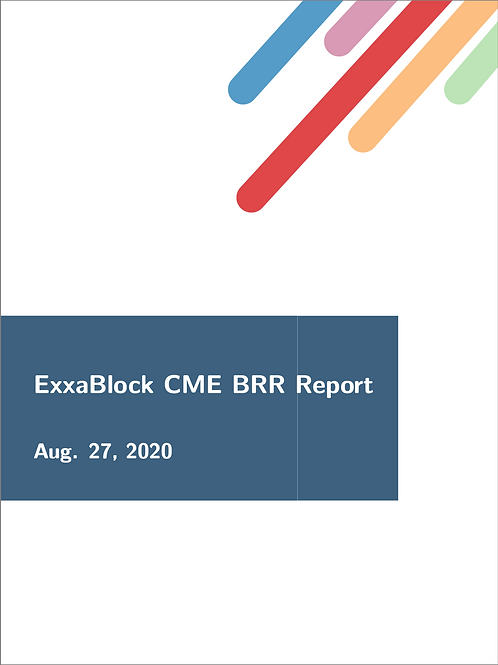 "ExxaBlock ""CME BRR"" Report - Monthly Subscriber"