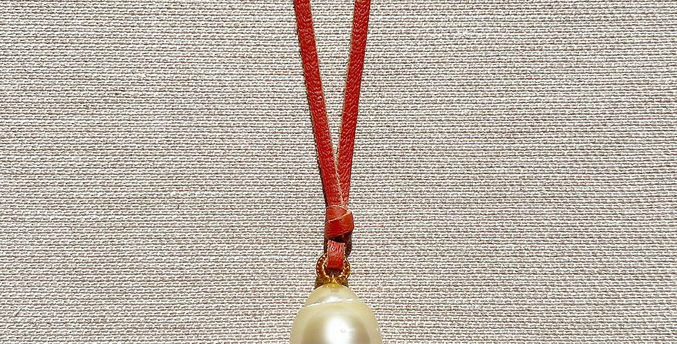 Surf Necklace - Nº3 (champagne south sea pearl)