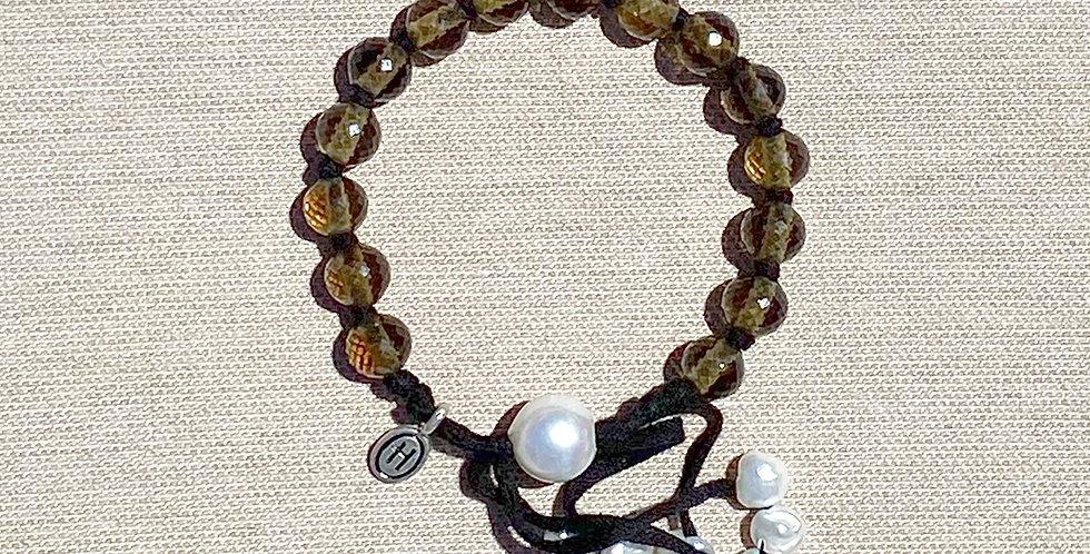 Hula Bracelet (smokey quartz)