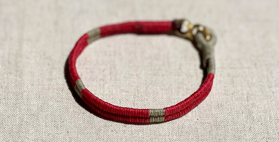 Serpentine Bracelet (red 80/20)
