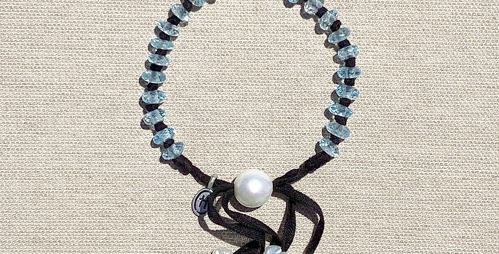 Hula Bracelet (blue topaz)