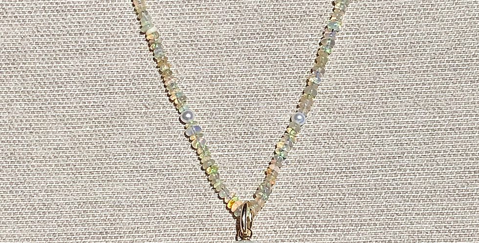 Malu Necklace (Ethiopian opal)