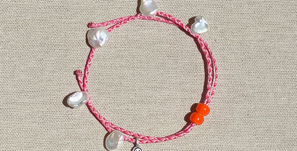 """Beach-Friendly"" Anklet (pink)"