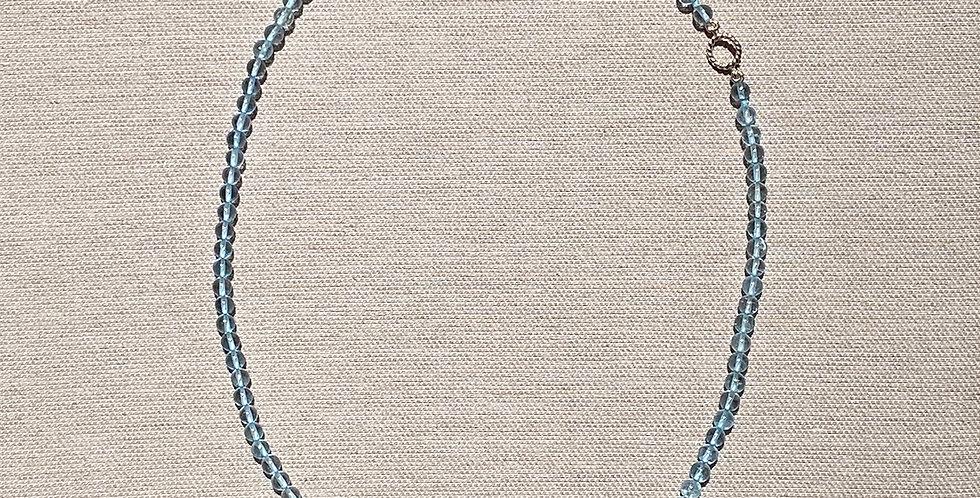 Love Necklace (blue topaz)