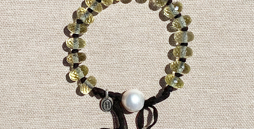 Hula Bracelet (lemon quartz)