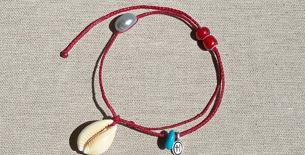 """Beach-Friendly"" Anklet (coral)"