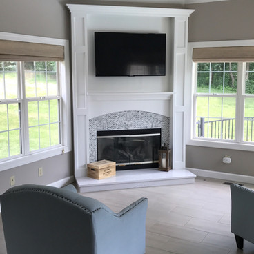 New Flooring and Fireplace in Lake St Louis