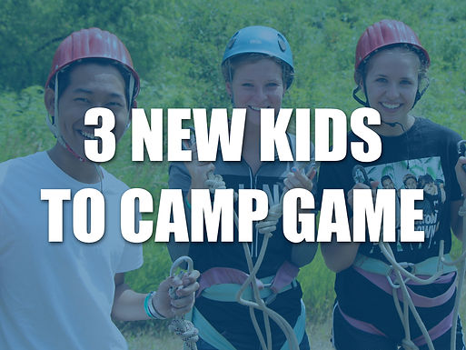 3 New Kids to Camp