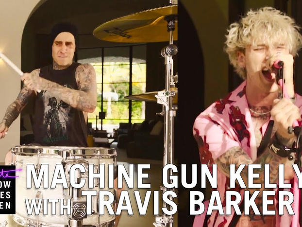 "Machine Gun Kelly, Travis Barker - ""Bloody Valentine"" (The Late Late Show w/ James Corden)"