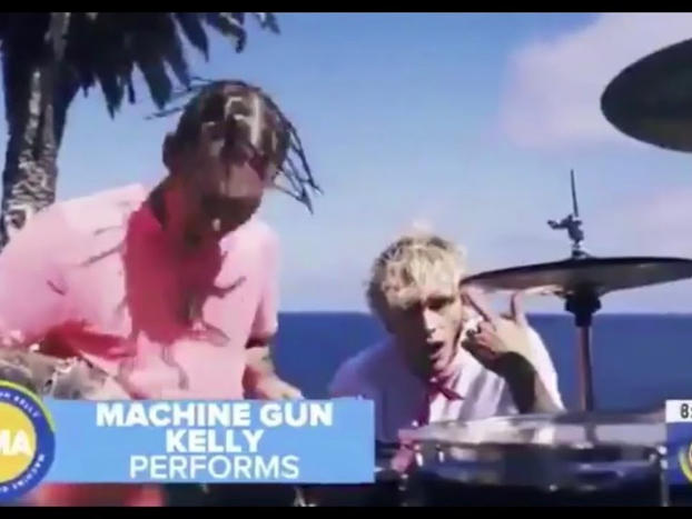"Machine Gun Kelly, Travis Barker - ""Bloody Valentine/Concert For Aliens"" (Good Morning America)"