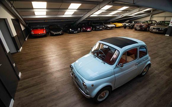 Classic car sales showroom