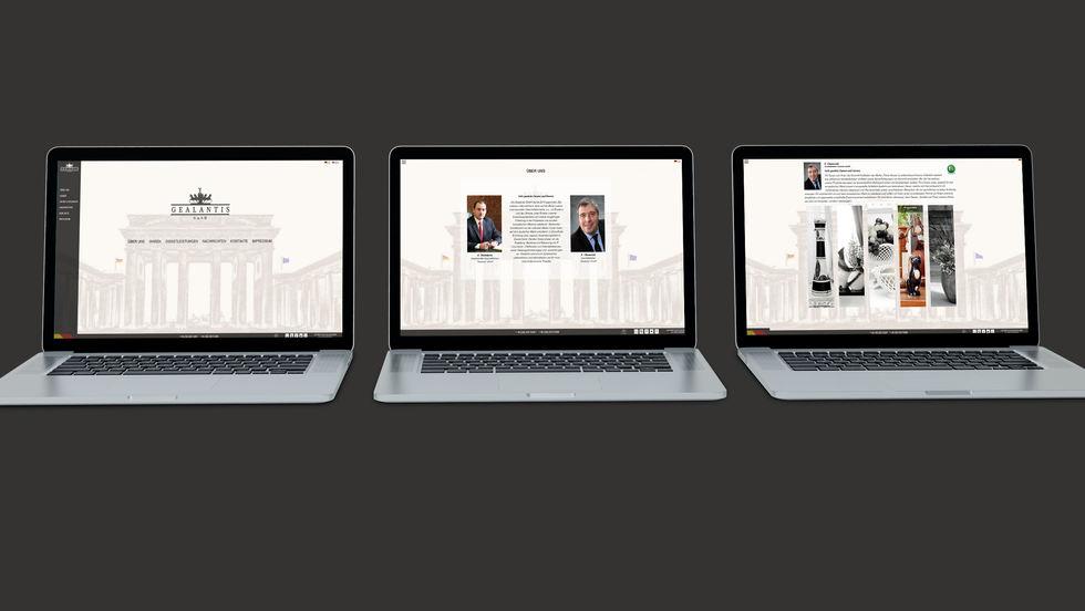 Gealantis web-site pages