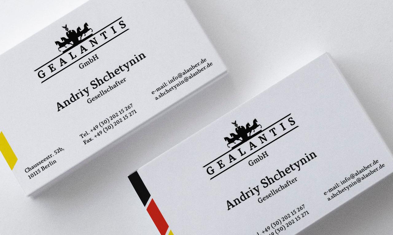 Gealantis Business cards
