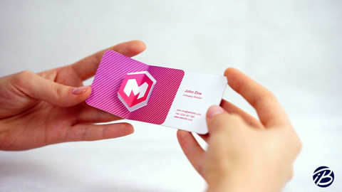 Diamond logo business card