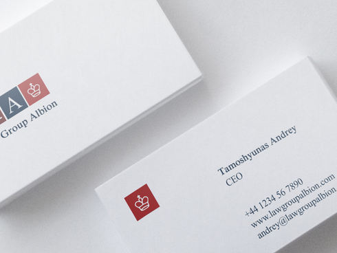 Law Group Albion Business Card