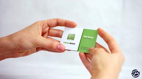 Credit book business card