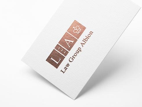 Law Group Albion Logo Hot Foil