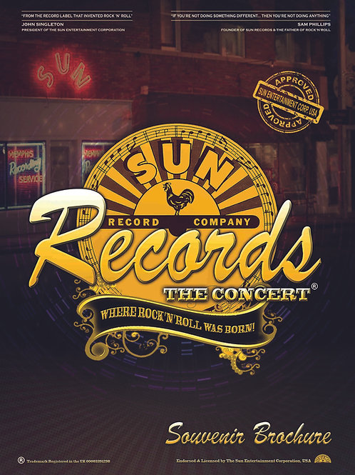 Sun Records The Concert 2021 Brochure