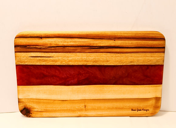 Dragon's Breath timber and resin serving/cutting board