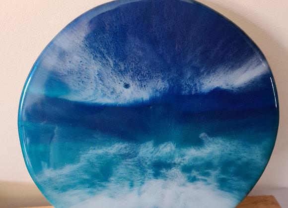 Resin Art Round serving board