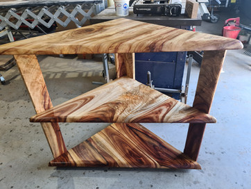 One off Timber corner unit