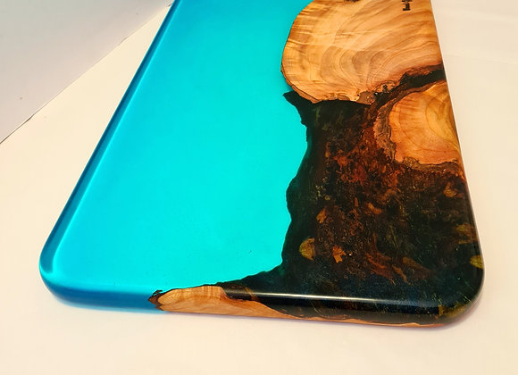 Blue lake timber and resin serving/cutting board