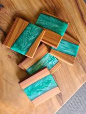 Timber & resin coasters