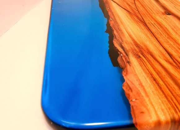 Blue ocean timber and resin serving/cutting board