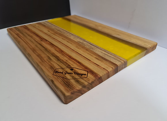 Lemon timber and resin serving/cutting board