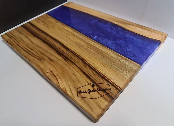 Pearl Collection - Gemstone timber and resin serving board