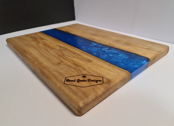 Pearl Collection - Electric blue timber and resin serving board