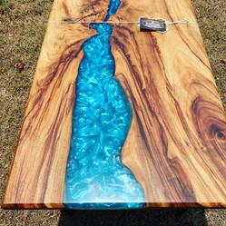 Camphor Laurel timber & resin coffee table