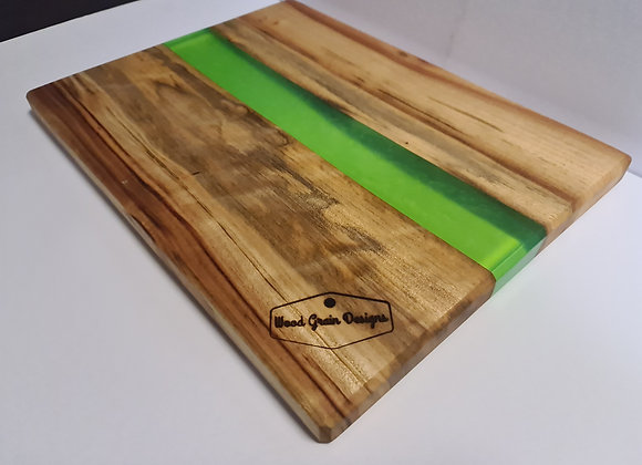 Citrus Collection - Lime timber and resin serving board
